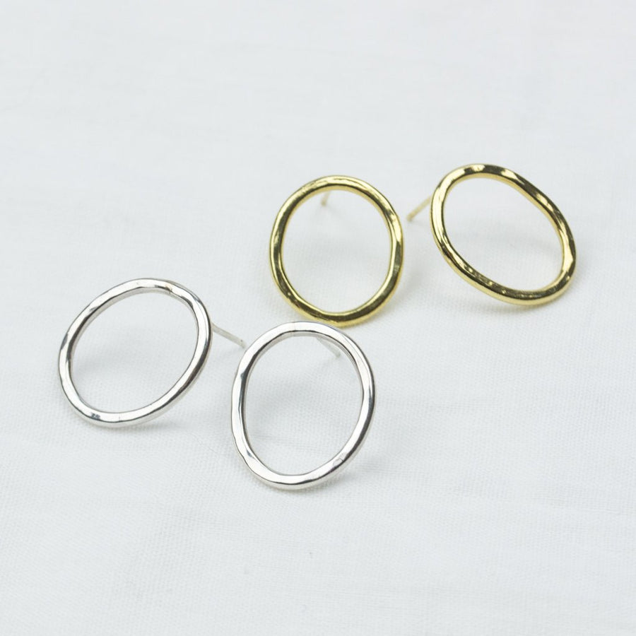 Golden Circle Studs - Amy Jennifer Jewellery