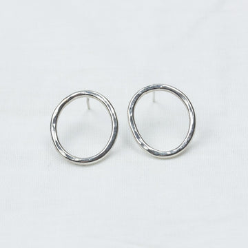 Silver Circle Studs - Amy Jennifer Jewellery