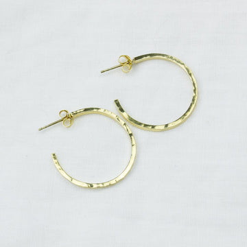Essential Hoops- In Gold - Amy Jennifer Jewellery