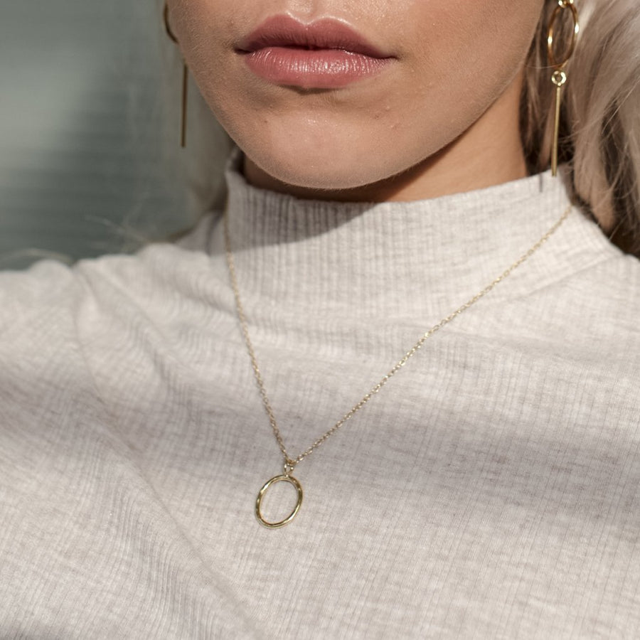 Essential Gold Circle - Amy Jennifer Jewellery