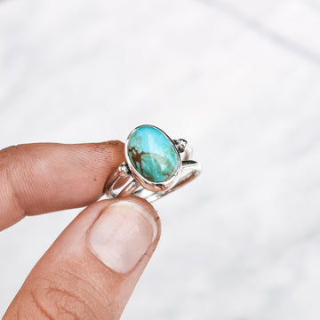 No 8 Turquoise Beaded Harri Ring - Amy Jennifer Jewellery