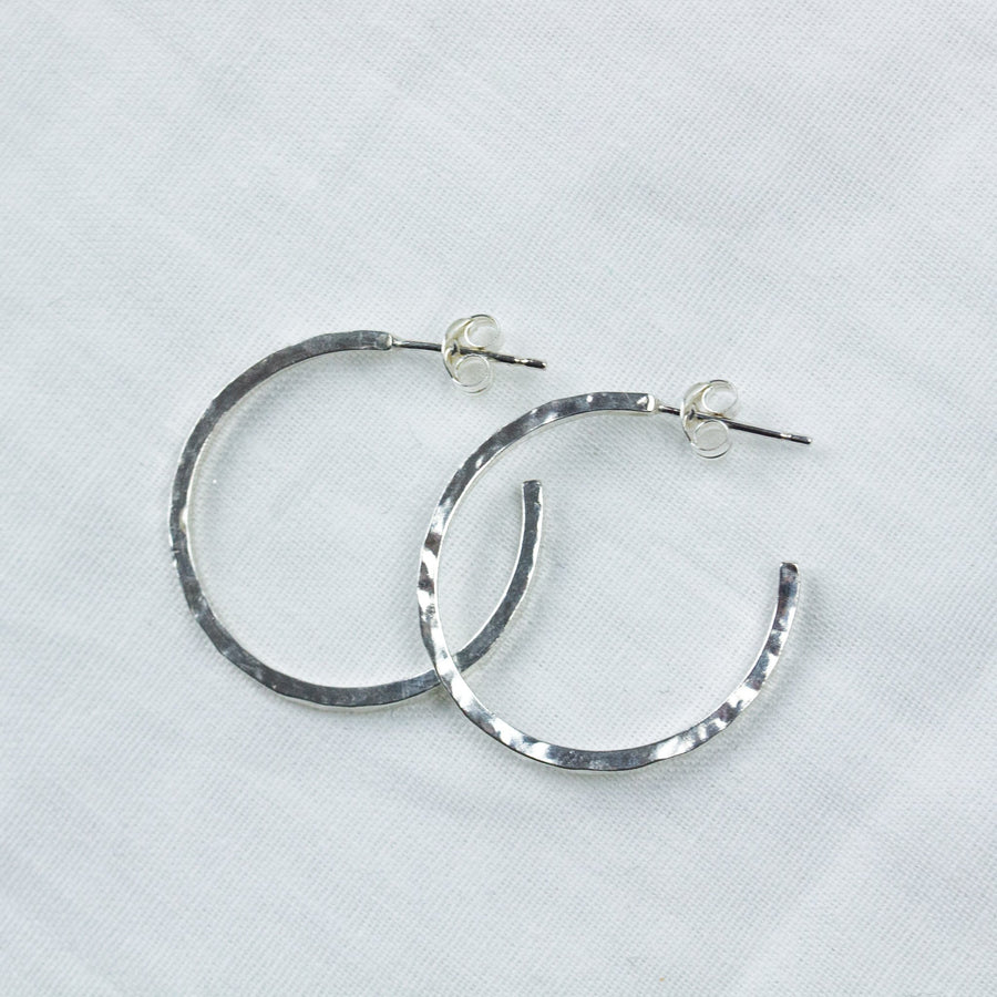 Essential Hoops- In Silver - Amy Jennifer Jewellery