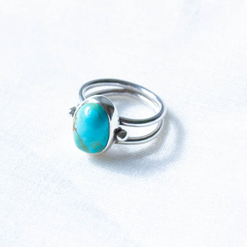No 8 Turquoise Beaded Harri Ring