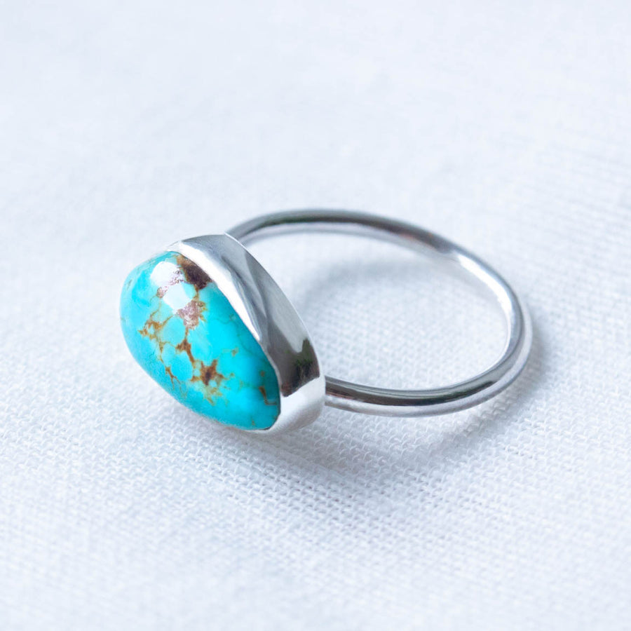No 8 Turquoise Sideways Harri Ring