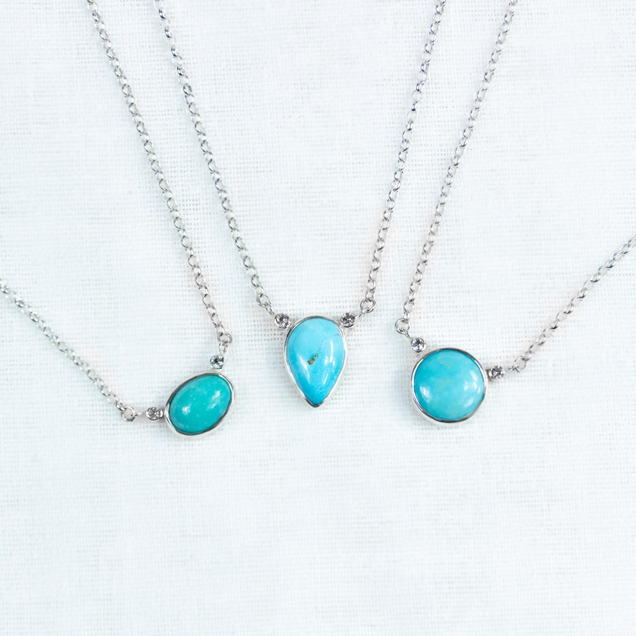 Turquoise & Topaz Short Necklace