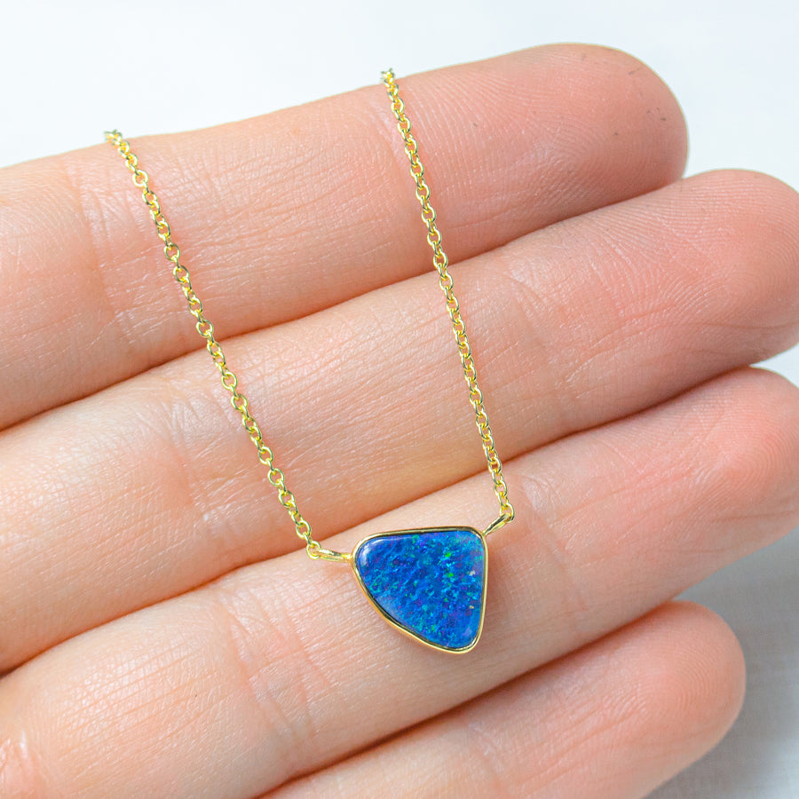 Blue Opal Marine Necklace