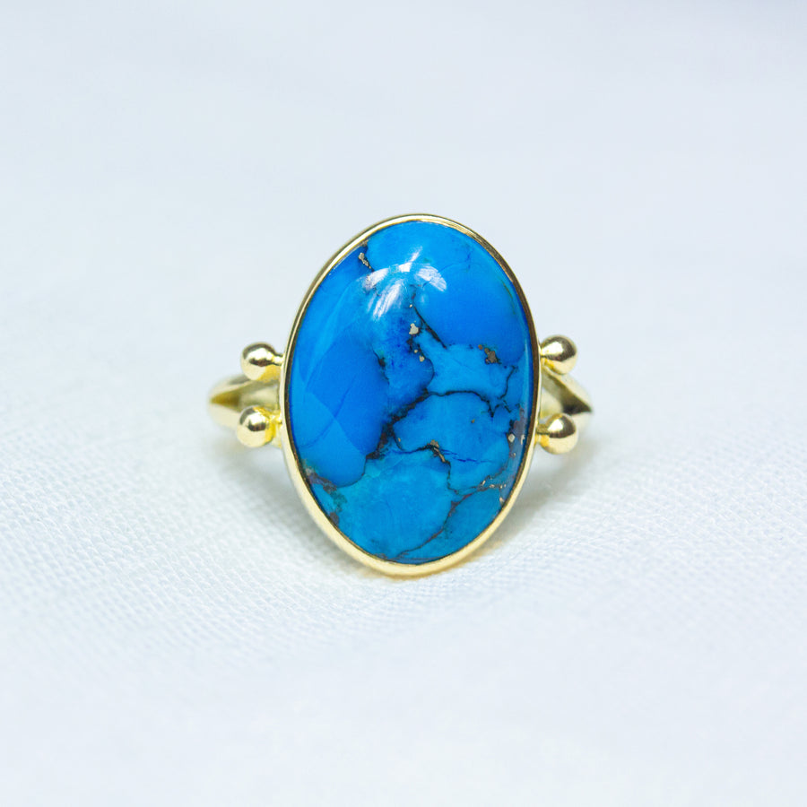 Egyptian Turquoise Tidal Ring