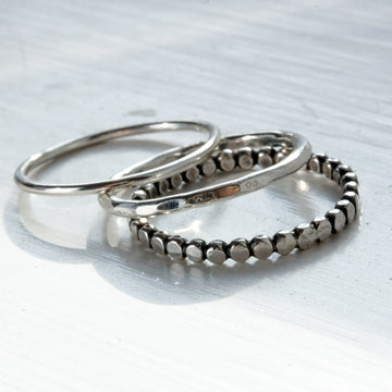 3 Stacking Rings - All Sizes - Amy Jennifer Jewellery
