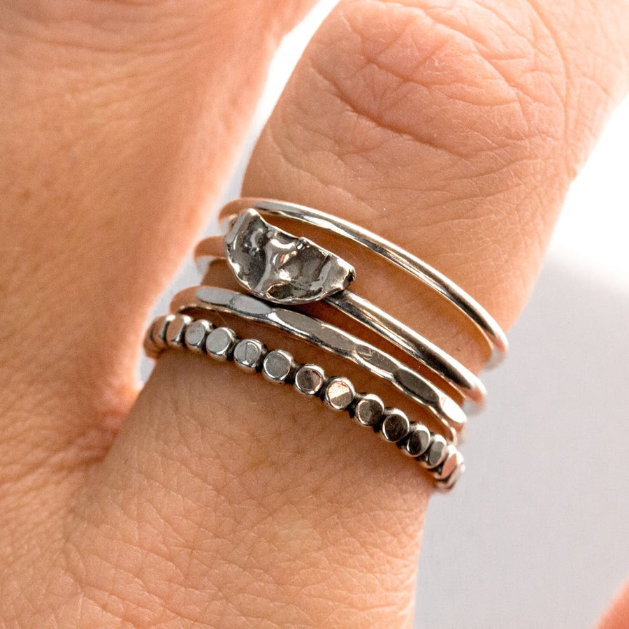 4 Stacking Rings - All Sizes - Amy Jennifer Jewellery