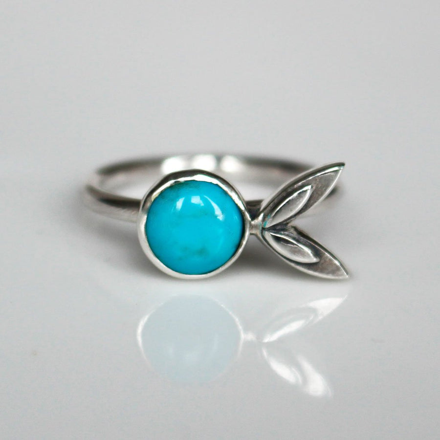 Turquoise Petal Stacking Ring - all sizes - Amy Jennifer Jewellery