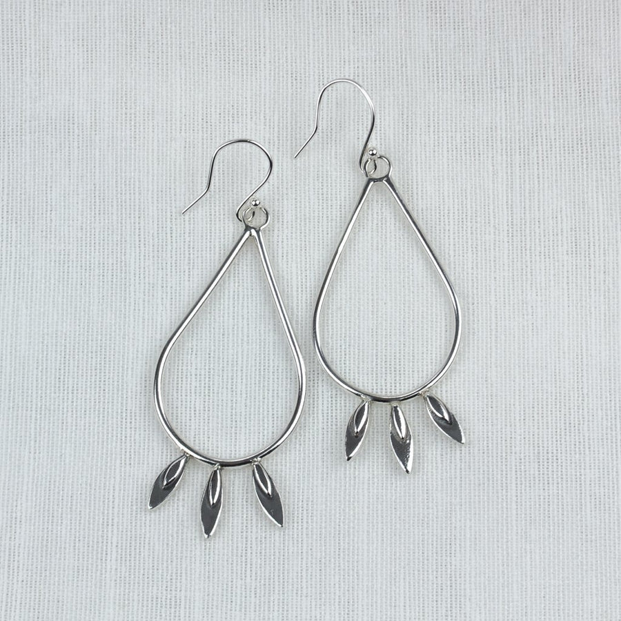 Petal Pear Drop Earrings - Amy Jennifer Jewellery