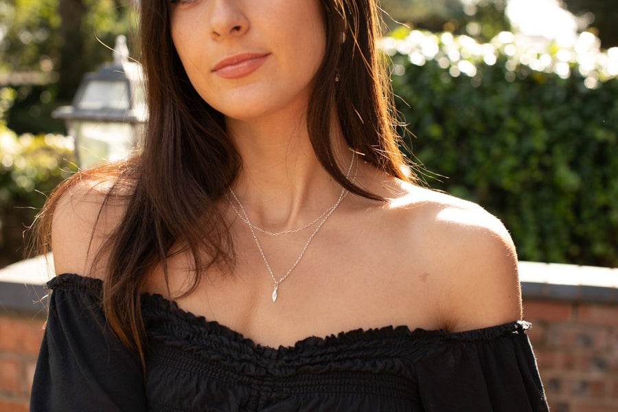 Layered Single Petal Necklace - Amy Jennifer Jewellery