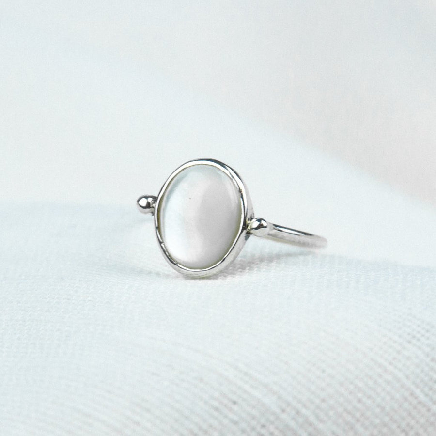 Mother of Pearl Bead Ring - Amy Jennifer Jewellery