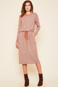 Soft Striped Hacci Dress