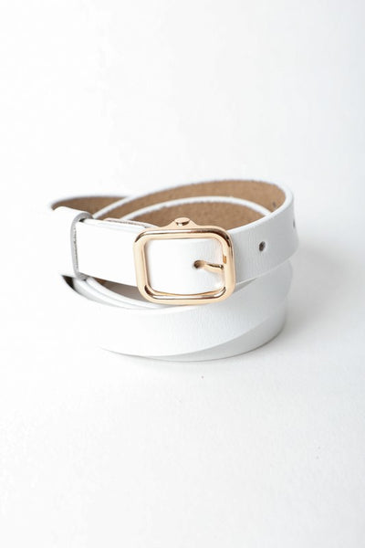 Classic Skinny Leather Belt