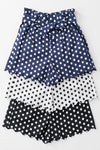 Polka Dot Paperbag Waist Shorts with Scallop Bottoms