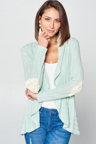 Open Front Sweater Knit Cardigan