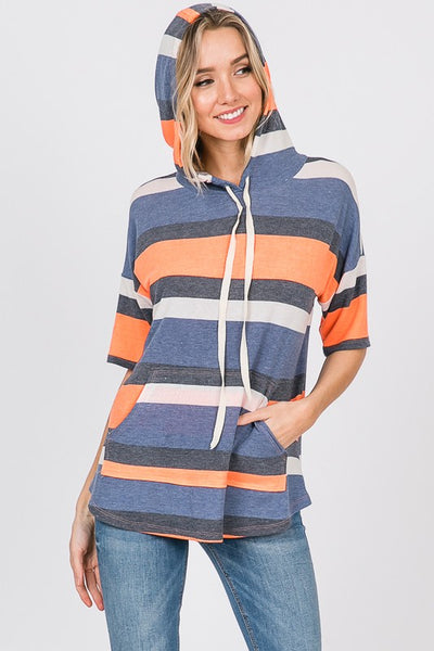 Neon Striped Hoodie