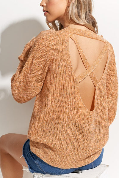 Soft and Fine Luxe Cross Back Sweater