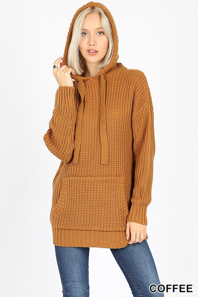 Hooded Heavy Sweater with Kangaroo Pocket