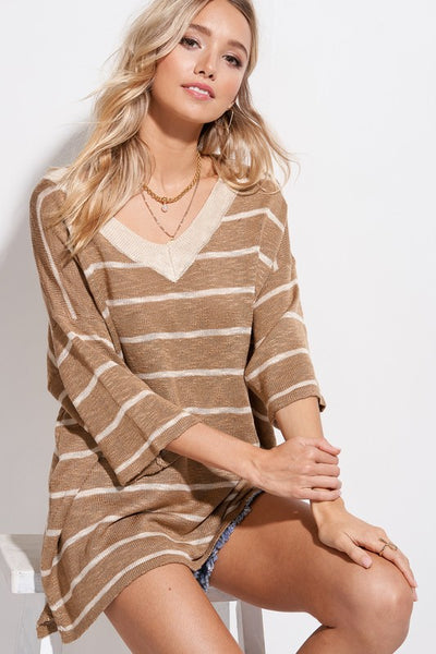 Striped Soft Textured Sweater