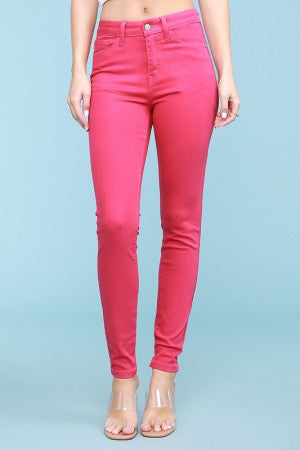 Judy Blue Fuschia High Waist Skinny