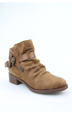 Blowfish Veto Buckle Bootie - Brown Prospector