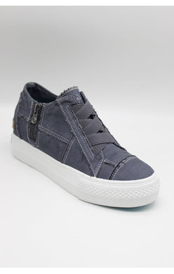 Blowfish Mamba Wedge Sneaker - Blue Tuna Canvas