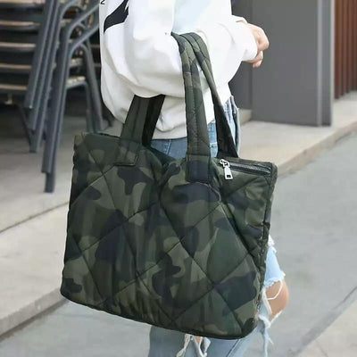 3 Piece Quilted Camo Bag