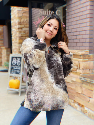 ADULT Galaxy Tie Dye Pullover Sherpa
