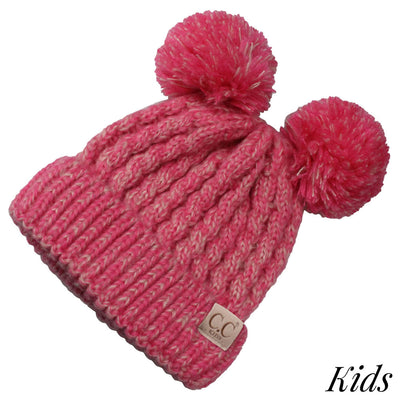 C.C. Beanie Kids Double Pom Hat