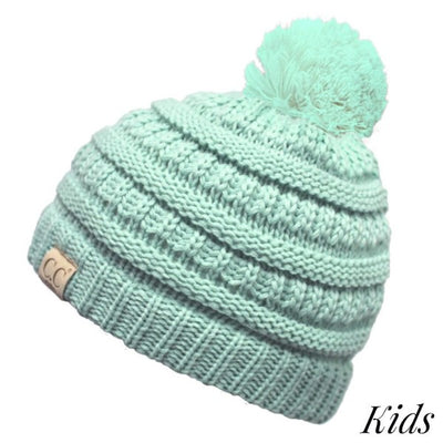 C.C. Beanie Kids Classic Single Pom Hat
