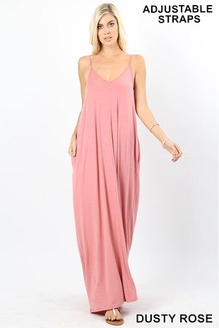 V-Neck Cami Maxi Dress