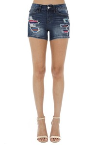 Judy Blue Serape Patch Jean Shorts
