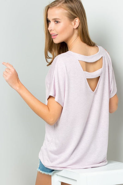 French Terry Ladder Cutout Back Top