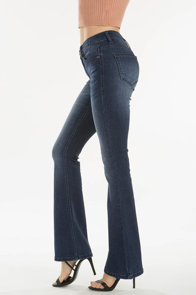 Kan Can Medium Wash Flare Jeans
