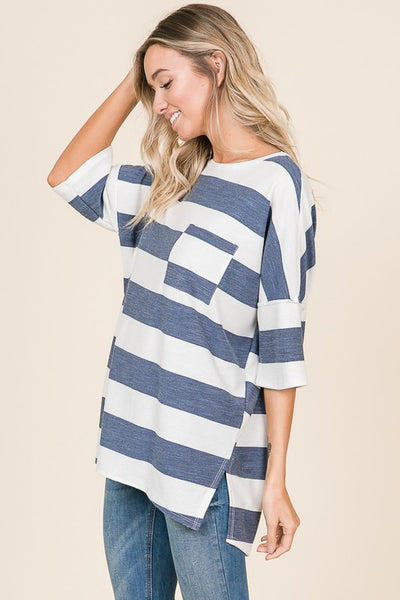 Pocket Stripe Top
