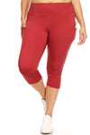 5-Pocket Active Performance Capri Leggings