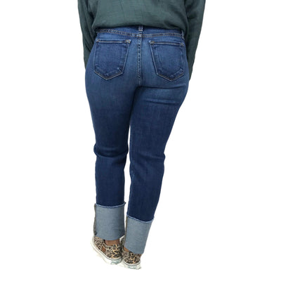 Judy Blue Straight Cuff Raw Hem Jeans