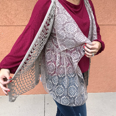 Perfect Boho Lace Crocheted Vest