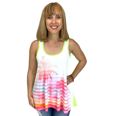 Palm Tree Retro Tank