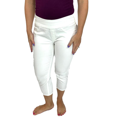 Rubberband Penelope Pull-on Capri Jeans - Ivory
