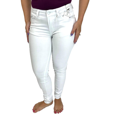 Judy Blue White Mid Rise Skinny Jean
