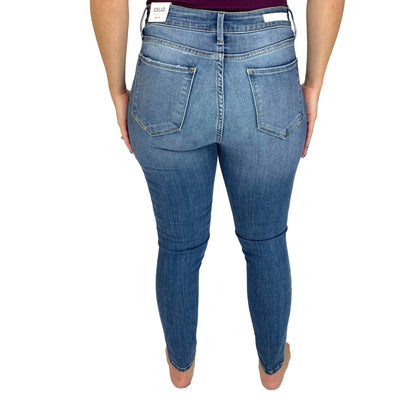 Cello Mid Rise Crop Skinny Jeans