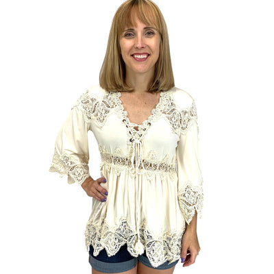 Scallop Edged Crochet Tunic