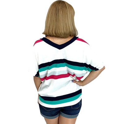 Colorful Knit Stripe Top