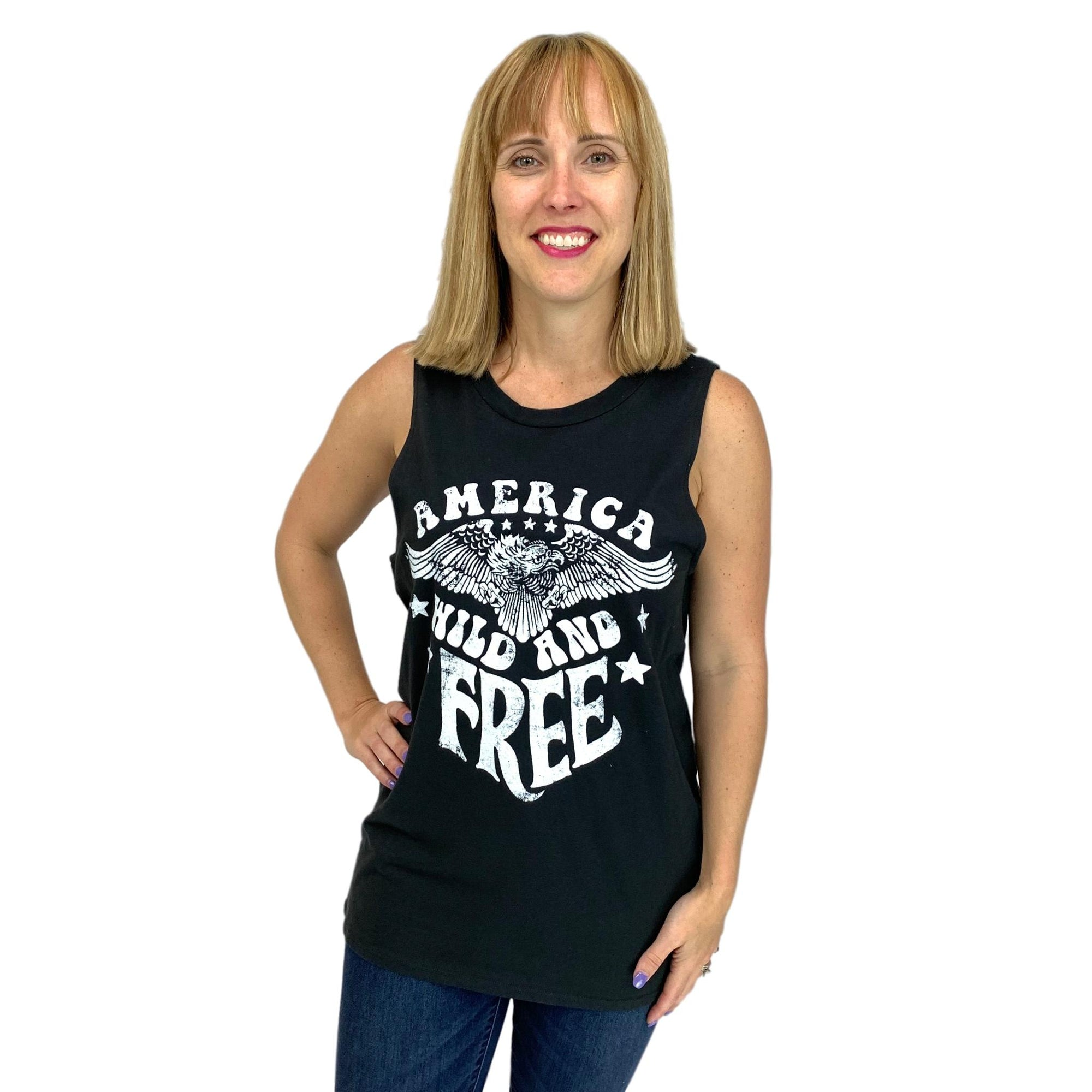 America Wild and Free Graphic Tank