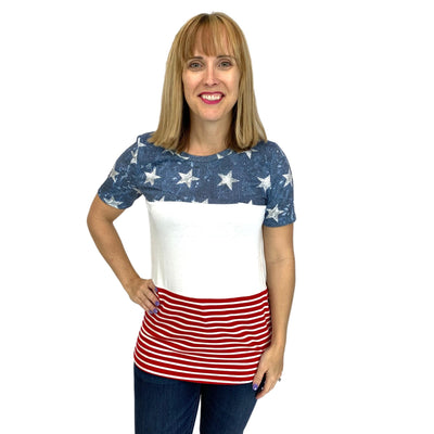 Stars and Stripes Vintage Top
