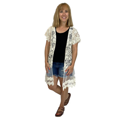 Crochet Lace Open Cardigan