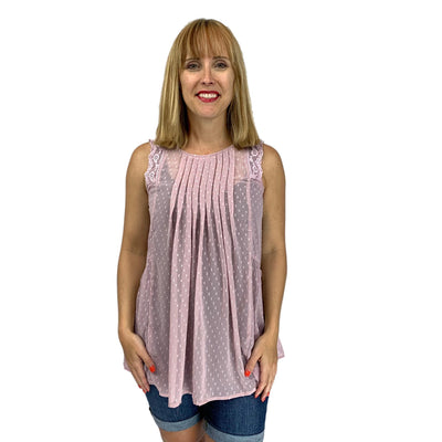 Lean on Me Textured Chiffon Top